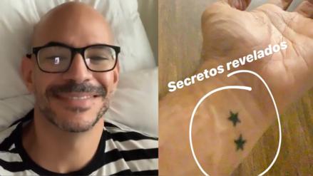 Ricardo Morán muestra un tatuaje de dos estrellas que simboliza a sus gemelos