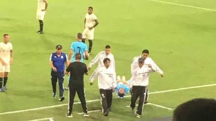 Sporting Cristal vs. Universitario de Deportes: Emanuel Herrera salió en camilla por lesión