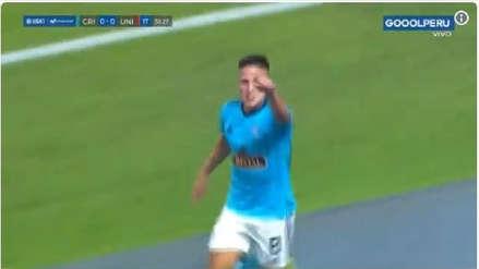 Sporting Cristal vs. Universitario: GO - LA - ZO de Cristian Ortiz para abrir el marcador en el Estadio Nacional