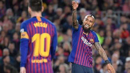 Arturo Vidal marcó un récord al ser campeón con Barcelona