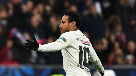 Neymar anotó golazo de 'sombrerito' en el PSG vs. Rennes en la final de la Copa de Francia