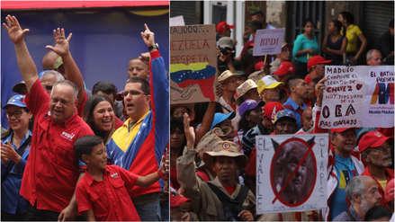 El chavismo marcha en Caracas para celebrar que Maduro decidiera salir de OEA [FOTOS]