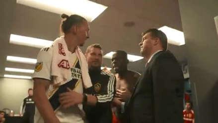 ¿Qué pasó? Zlatan Ibrahimovic estuvo cerca de pelearse con un rival en el camerino