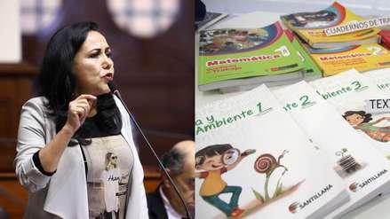 Gloria Montenegro reconoció falta de estrategia para tratar el contenido sexual de los libros escolares
