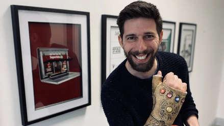 """Tras fracturarse la muñeca, fanático de """"Avengers: EndGame"""" transformó su yeso en el Guantelete de Thanos"""