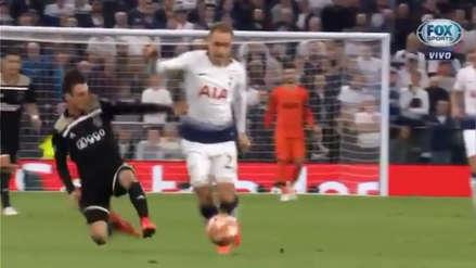¡Terrible entrada!: La falta de Tagliafico que le valió una amarilla en partido ante Tottenham