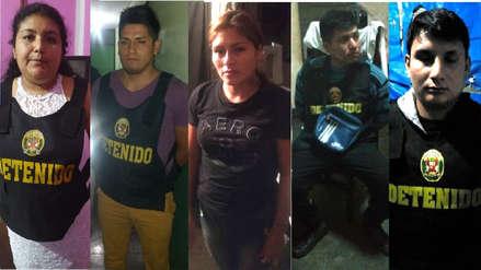 Un policía detenido en la captura de una banda dedicada al sicariato, extorsión y asalto en Trujillo y Casa Grande