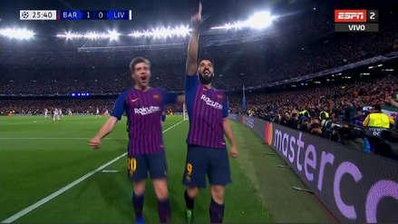 ¡Con 'tiki-taka' incluido! Así fue el primer gol del Barcelona ante Liverpool
