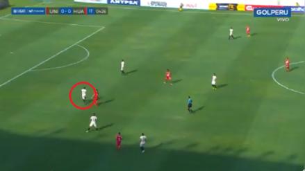 LIGA 1 | El error defensivo de Universitario de Deportes que terminó en gol de Sport Huancayo [VIDEO]