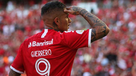 Así reaccionó el Inter de Porto Alegre tras el gol de Paolo Guerrero ante Flamengo