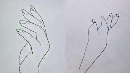 Dibujar tu propia mano: un nuevo reto llega a Internet y parece imposible de superar