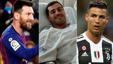 Lionel Messi y Cristiano Ronaldo enviaron emotivos mensajes a Iker Casillas