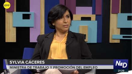 Ministra Sylvia Cáceres anuncia que el Gobierno impulsará un proyecto de empleo juvenil
