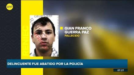 Policías abaten a un delincuente durante una persecución en la Costa Verde