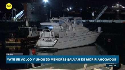 Yate zozobró en el Callao y más de 30 adolescentes cayeron al mar