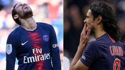 Neymar le cedió penal a Cavani, que falló de esta manera en empate de PSG