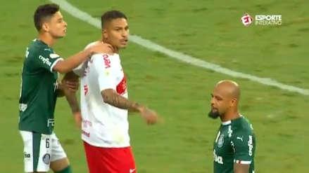 Paolo Guerrero se peleó con Felipe Melo y casi sale expulsado en el Inter vs. Palmeiras