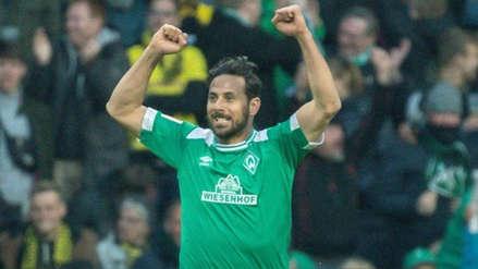Claudio Pizarro recibió tremendo elogio del Werder Bremen tras su gol ante Borussia Dortmund