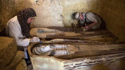 Egipto descubrió nuevas tumbas del Antiguo Imperio cerca de las pirámides de Guiza [FOTOS]