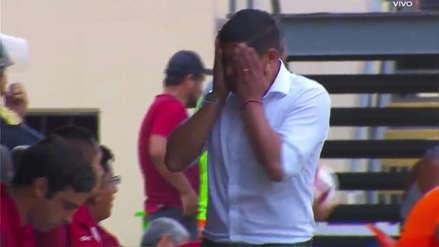 El rostro de frustración de Nicolás Córdova luego del cuarto gol de César Vallejo