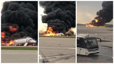 Un avión se incendió al aterrizar en un aeropuerto de Moscú y dejó al menos 13 muertos