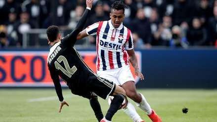 Con Renato Tapia, Willem II cayó goleado ante Ajax en la final de la Copa Holandesa