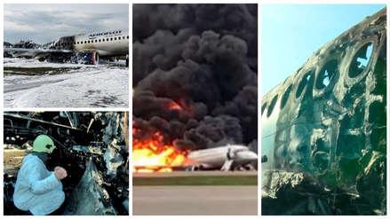 Un avión ruso aterrizó envuelto en llamas en Moscú: ¿Cuáles fueron las posibles causas?