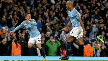 Manchester City ganó 1-0 a Leicester y está a un paso de ganar la Premier League
