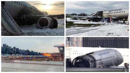 Así quedó el avión que se incendió y dejó 41 muertos en el aeropuerto de Moscú  [FOTOS]