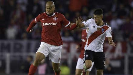 Sin Paolo Guerrero, Internacional cedió un empate ante River Plate en el último minuto en Copa Libertadores