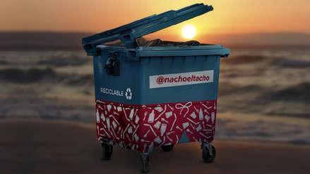 El ecoinfluencer del verano: Nacho el Tacho recolectó 105 toneladas de residuos reciclables en playas