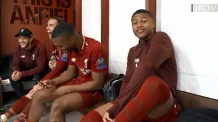 Felicidad pura: los festejos de Liverpool en vestuarios tras la clasificación a la final de Champions League