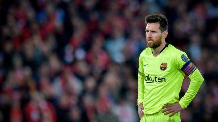 7 imágenes del rostro de Messi tras la goleada del Liverpool a Barcelona