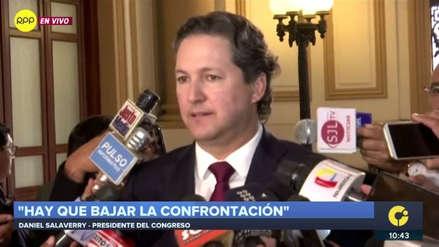 """Salaverry pide a Vizcarra """"no echar más leña al fuego"""" tras incidente con la Policía en el Congreso"""