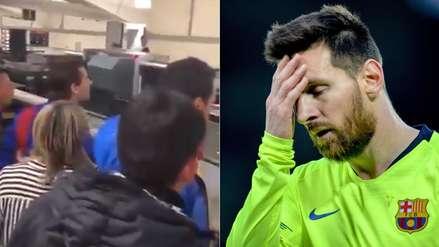 Messi fue encarado por hinchas del Barcelona en aeropuerto tras eliminación de la Champions [VIDEO]