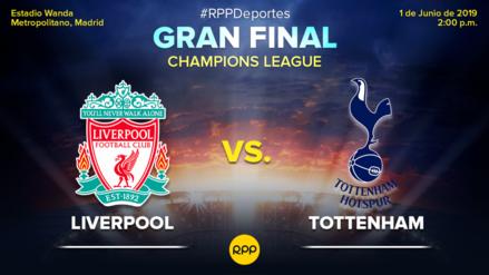 Liverpool vs. Tottenham: fecha, hora y canal por la final de la Champions League