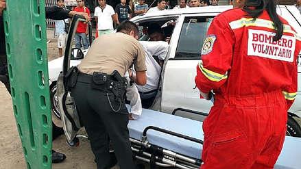 Taxista intenta frustrar robo a su pasajera y delincuentes le disparan en Trujillo
