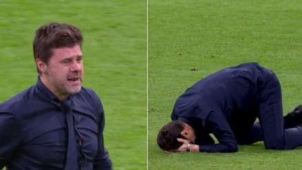 La euforia de Mauricio Pochettino tras el histórico triunfo del Tottenham