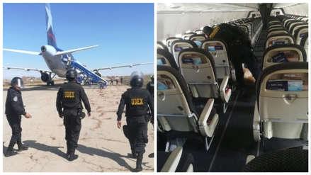 Pasajeros de avión en Arequipa fueron evacuados tras amenaza de bomba
