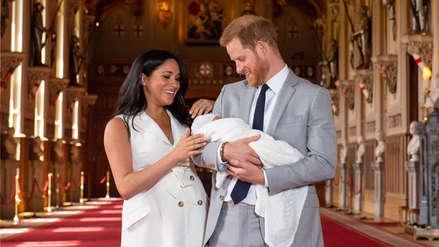 Las primeras fotos del bebé de Meghan Markle y el príncipe Harry durante su presentación oficial