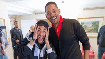 La emoción de Neymar al conocer a Will Smith: