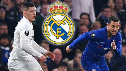 """Eden Hazard y Luka Jovic se """"citan"""" en Madrid tras partido de la Europa League"""