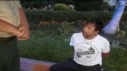 Hombre y mujer que salieron a correr a plaza fueron agredidos por un sujeto [VIDEO]