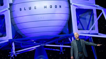 Jeff Bezos mostró el vehículo con el que pretende llegar a la Luna