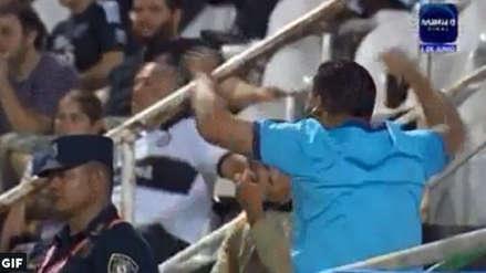 Sporting Cristal vs Olimpia: La eufórica celebración de un hincha 'celeste' en Asunción