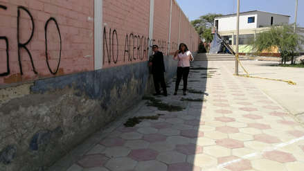 Inspeccionan muro de colegio de Chiclayo que podría generar una tragedia