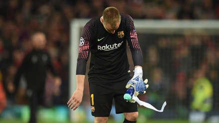 Las disculpas de Ter Stegen tras la derrota de Barcelona ante Liverpool
