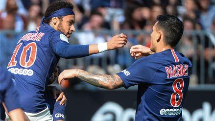 Golazo de 'palomita' de Neymar en la victoria del PSG ante Angers por la Liga de Francia