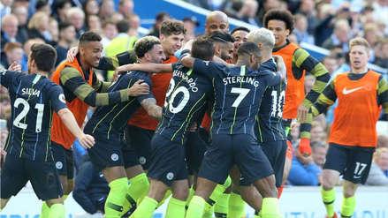 Manchester City goleó 4-1 al Brighton y se coronó campeón de la Premier League