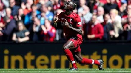 El gol de Sadio Mané que puede darle el título de la Premier League al Liverpool